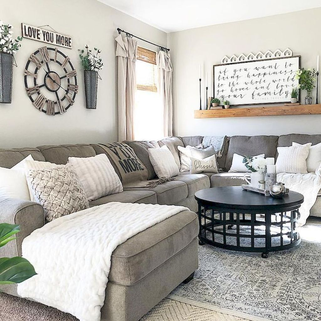 40 Modern Farmhouse Living Room Design Ideas Homystyle